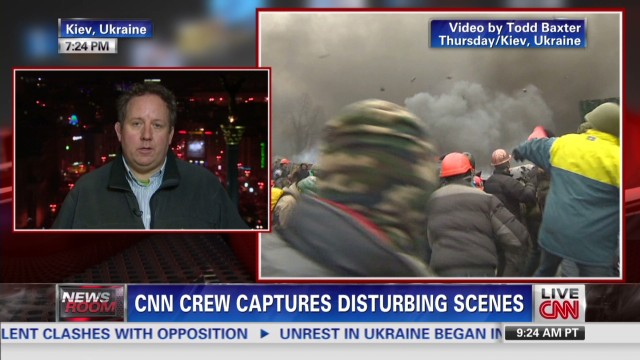 CNN crew sees Ukraine violence firsthand