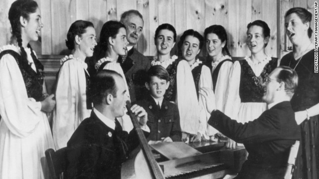 The Trapp Family Singers rehearse in 1946. Maria von Trapp, who died Tuesday, is third from left.