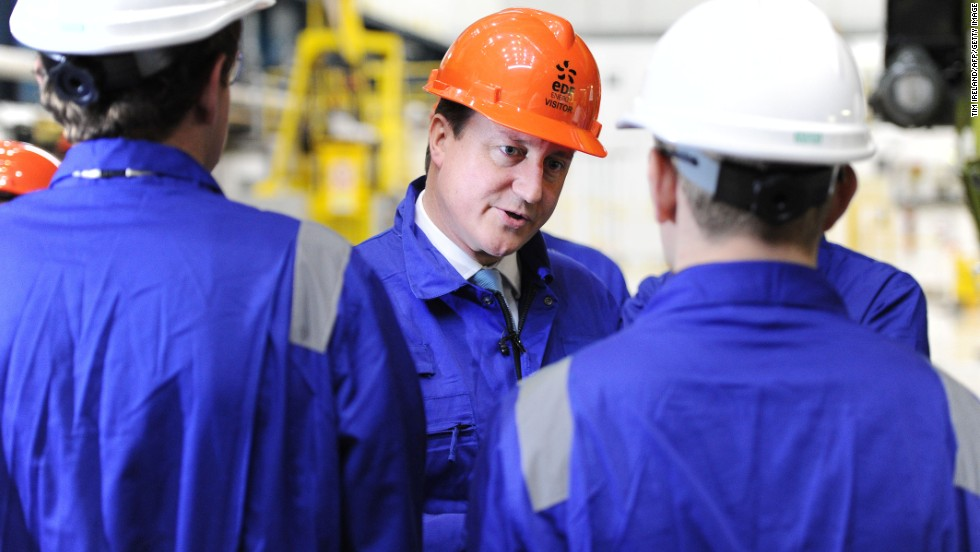 In October 2013, British Prime Minister David Cameron's (pictured) government announced that French energy giant EDF -- one of the world's largest suppliers of electricity -- would build Britain's first new nuclear plant in a generation, with Chinese backing.