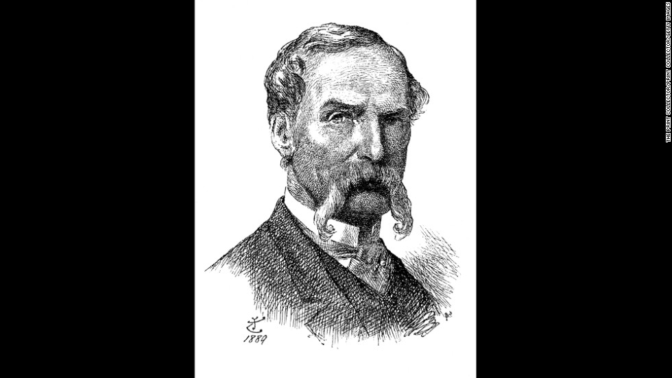 """John Tenniel, best known for his illustrations of """"Alice in Wonderland"""" and """"Through the Looking Glass,"""" died 100 years ago on February 25, 1914. This image is a self-portrait Tenniel drew in 1889."""