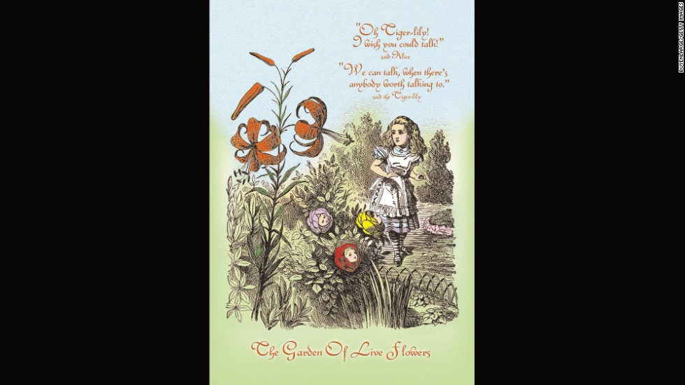 "Alice in the Garden of Live Flowers from ""Through the Looking Glass."""