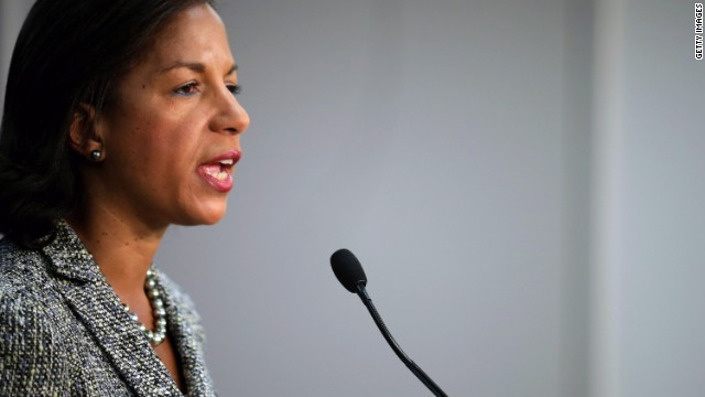 """U.S. National Security Adviser Susan Rice warned it """"would be a grave mistake"""" if Russian President Vladimir Putin intervened militarily in the ongoing crisis in Ukraine."""