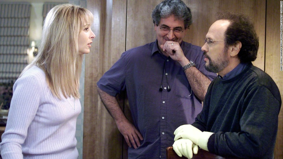"Ramis' ""Analyze This"" (1999) was successful enough to spawn a sequel, ""Analyze That"" (2002). Ramis is shown here with stars Lisa Kudrow and Billy Crystal."