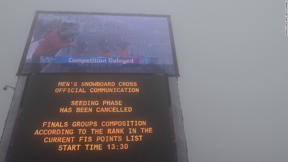Fog forced the postponement of both the men's snowboard cross and biathlon races, while the warm temperatures did effect the halfpipe, which was criticized by snowboarders before and during the Games.  However, on the whole the weather didn't cause too many problems during the Winter Olympics.