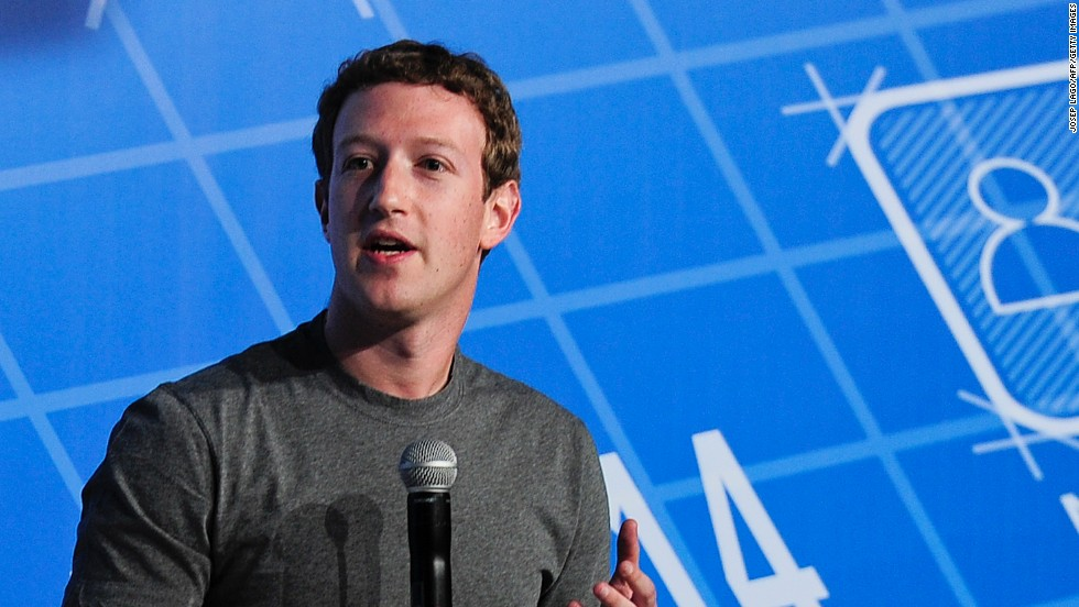 "Facebook CEO <strong>Mark Zuckerberg</strong> talks about the <a href=""http://money.cnn.com/video/technology/2014/02/24/t-zuckerberg-on-whatsapp-acquisition.cnnmoney/"">$19bn takeover of WhatsApp</a>."