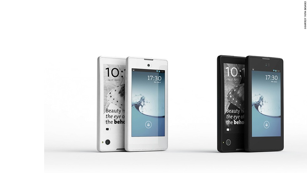 "Russia's YotaPhone showed off an Android handset with an <a href=""http://techland.time.com/2013/01/09/hands-on-with-russias-yotaphone-finally-something-different/"" target=""_blank"">interactive e-ink display</a> on its back."