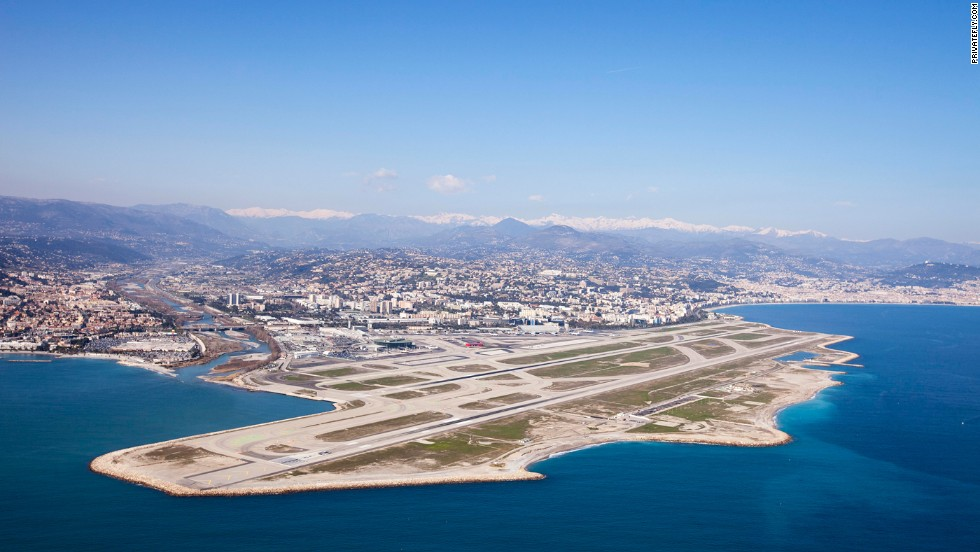 "There's a ""beautiful approach from the north-east over the Alps, then Monaco, or west with the red Estérel Mountains on the left and blue Med on the right,"" says the aviation journalist Sylvie Peron."