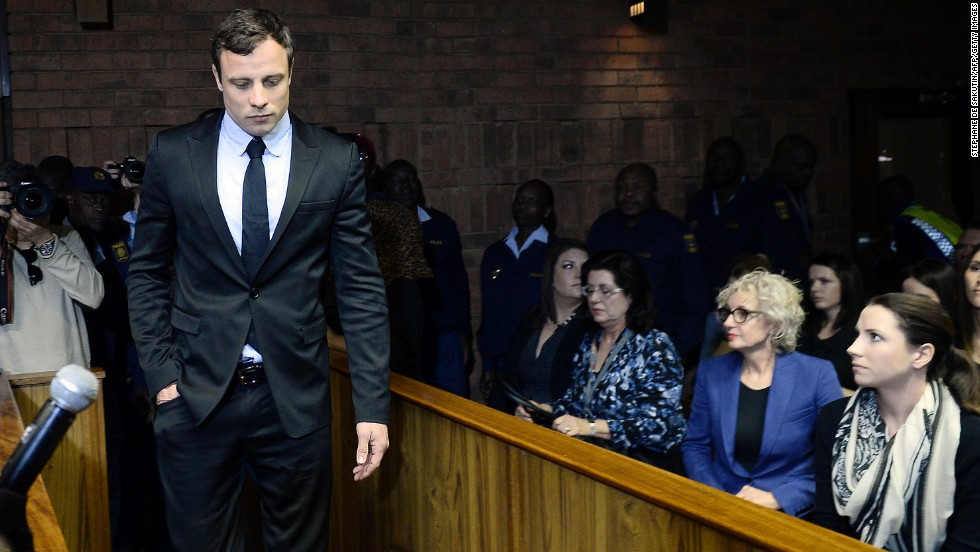 "South African sprinter Oscar Pistorius was charged with murdering his girlfriend, model Reeva Steenkamp, in February 2013. Pistorius, the first double-amputee runner to compete in the Olympics, <a href=""http://www.cnn.com/2014/03/03/africa/gallery/pistorius-2014-trial/index.html"" target=""_blank"">was found guilty of culpable homicide</a> and sentenced to five years in prison. Culpable homicide is the South African term for unintentionally, but unlawfully, killing a person."