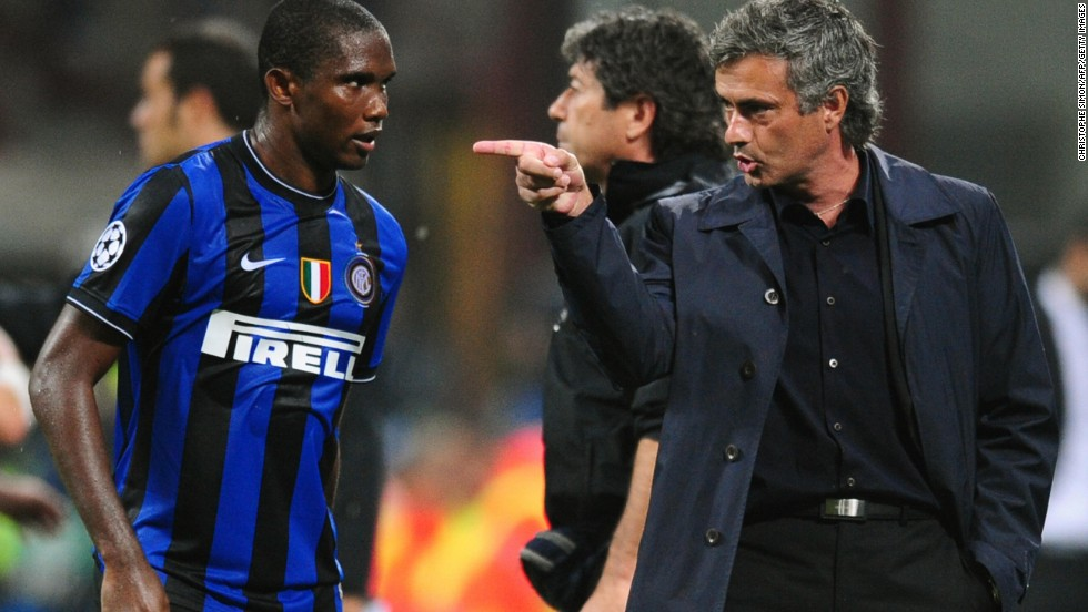 "Mourinho went on to praise Eto'o, with whom he won a European treble at Inter Milan before bringing him to Chelsea: ""It was with him I had the best ever season of my career. He is one of the few players who is working with me at a second different club and a manager never does that when he doesn't like the player, doesn't like the person."""