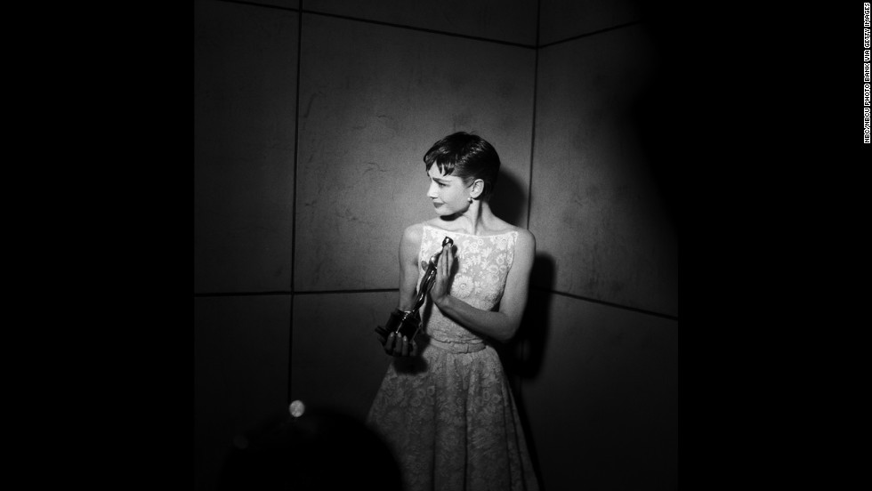 "Audrey Hepburn is a style classic, and with good reason. The elegantly simple item she wore to the 1954 Oscars is like the white version of the ""little black dress"" she'd popularize with ""Breakfast at Tiffany's."" At that year's ceremony, Hepburn accepted the best actress Oscar for ""Roman Holiday."""
