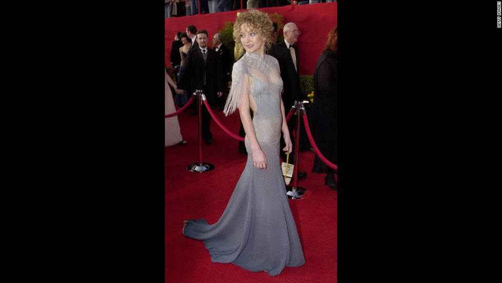 """Kate Hudson's 2001 Oscars dress was so bad, it still haunted her a decade later. """"It was my first and only nomination,"""" <a href=""""http://www.vogue.co.uk/news/2011/11/29/kate-hudson-on-stella-mccartney"""" target=""""_blank"""">Hudson told Vogue UK in 2011</a>. """"I was 21 years old, and to have Stella McCartney dressing me, well, I felt like the hippest, coolest girl in the world."""" Hudson woke up the next day, turned on the TV and learned she """"was on every worst-dressed list possible. So I called Stella and we just laughed ... and she said to me, 'Look babe, it was the hair wasn't it?' """""""