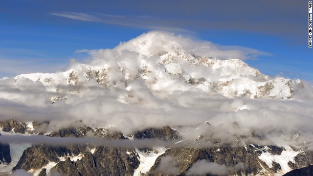 Highest mountain in North America: Mount McKinley at Denali National Park in Alaska