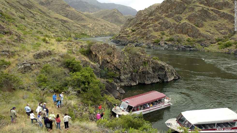 <strong>Deepest canyon in North America: </strong>Hells Canyon in eastern Oregon, eastern Washington and western Idaho. At its deepest, the canyon plunges 2,452 meters (8,043 feet) from the tip of He Devil Peak to the Snake River.