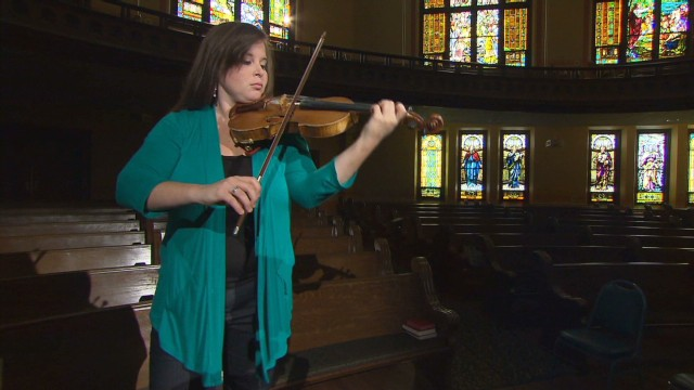 Young violinist triumphs over illness