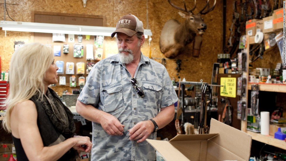 Nugent and his wife, Shemane, reload ammunition on their 1,200-acre ranch in Concord, Michigan, in June.