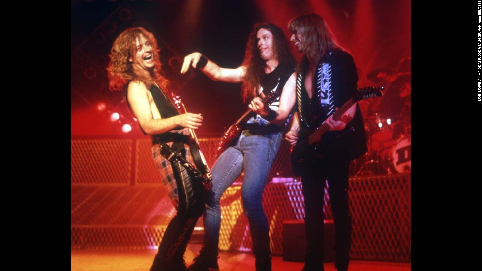 Nugent, center, plays with the super group Damn Yankees circa 1993.