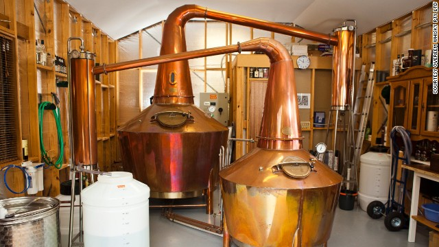 Some of the world's finest single malt is distilled in the garage of the Overeem family's Hobart home.