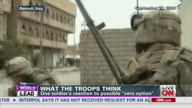 Veteran on 'zero option' in Afghanistan