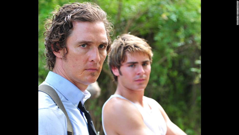 "McConaughey plays big brother to Zac Efron in the 2012 film ""The Paperboy."""