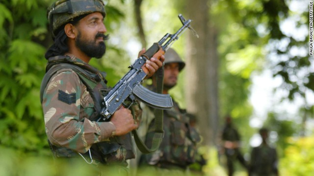 An Indian army soldier killed 5 of his colleagues and himself in the region of Kashmir. Large numbers of troops, such as the ones pictured in the above file photo, are stationed in the disputed region.