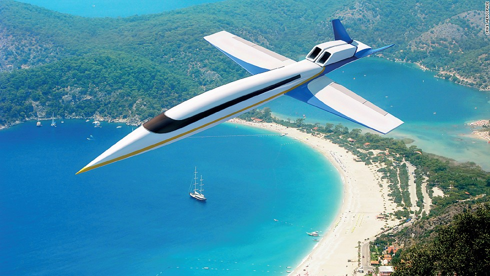 In 2014, Spike Aerospace announced plans for what the world's first supersonic business jet, one capable of breaking the sound barrier, and traveling at Mach 1.8. The S-512 supersonic jet would have no windows (to decrease drag). Instead, the cabin would be lined with screens that could display the landscape outside.