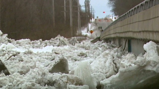 Will river go from frozen to flooded?