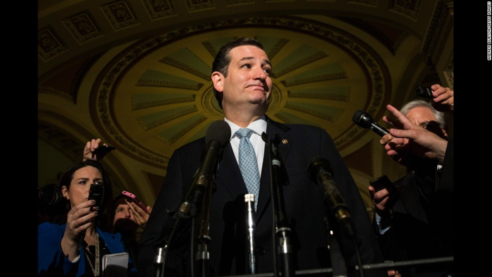 Texas Sen. Ted Cruz launched a 21-hour filibuster in October 2013 in a bid to link defunding Obamacare to federal spending. The standoff over the issue led to a government shutdown the public largely blamed on congressional Republicans.