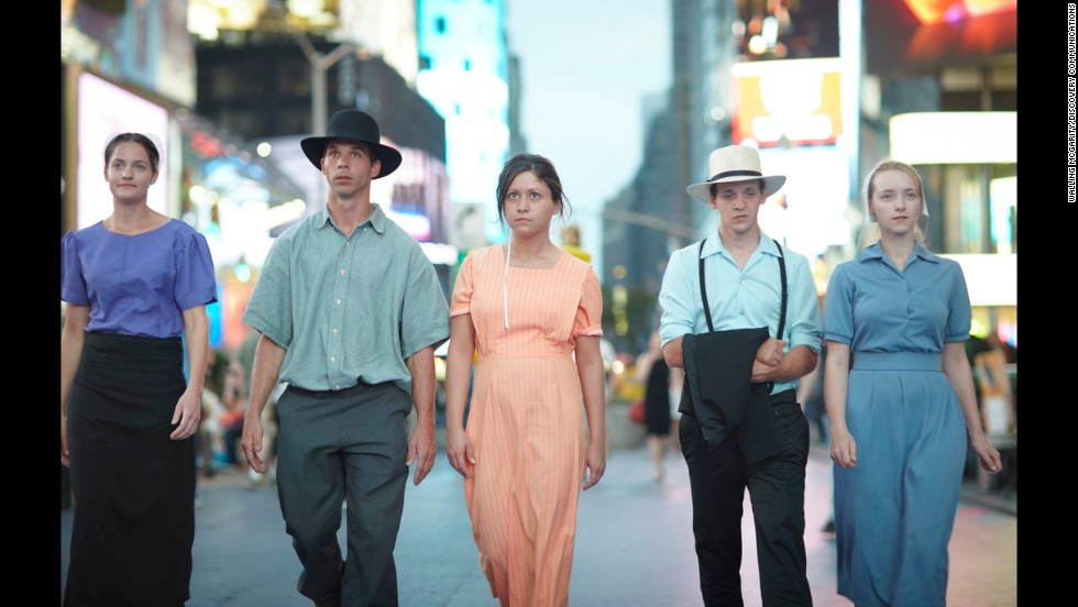 "The 2012 reality series ""Breaking Amish"" finds Kate, Jeremiah, Sabrina, Abe and Rebecca venturing out."