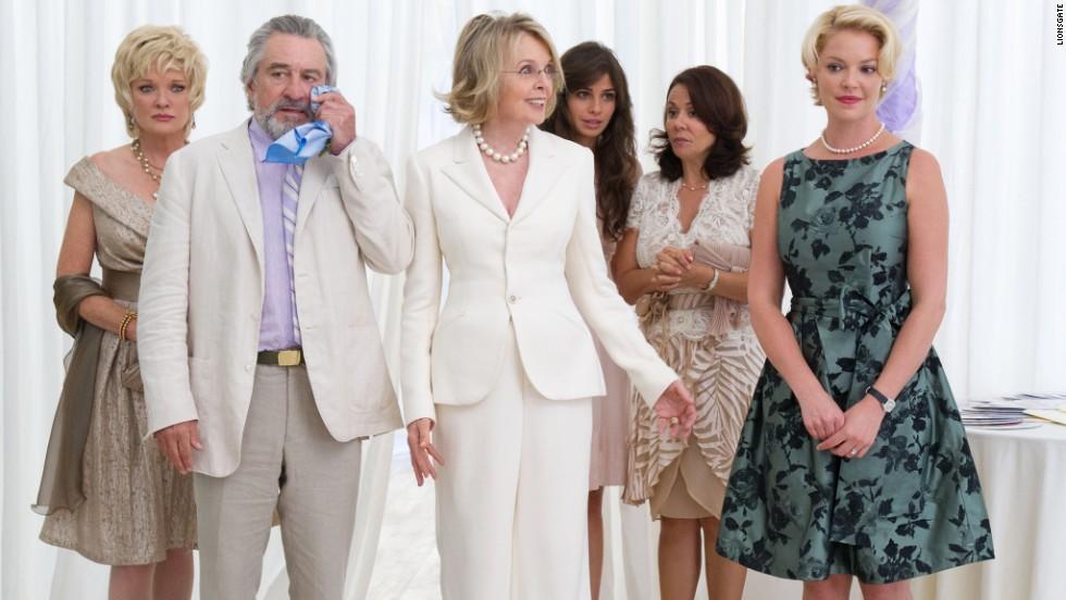 "Christine Ebersole, Robert De Niro, Diane Keaton, Ana Ayora, Patricia Rae and Katherine Heigl star in the ensemble comedy ""The Big Wedding"" in 2013."
