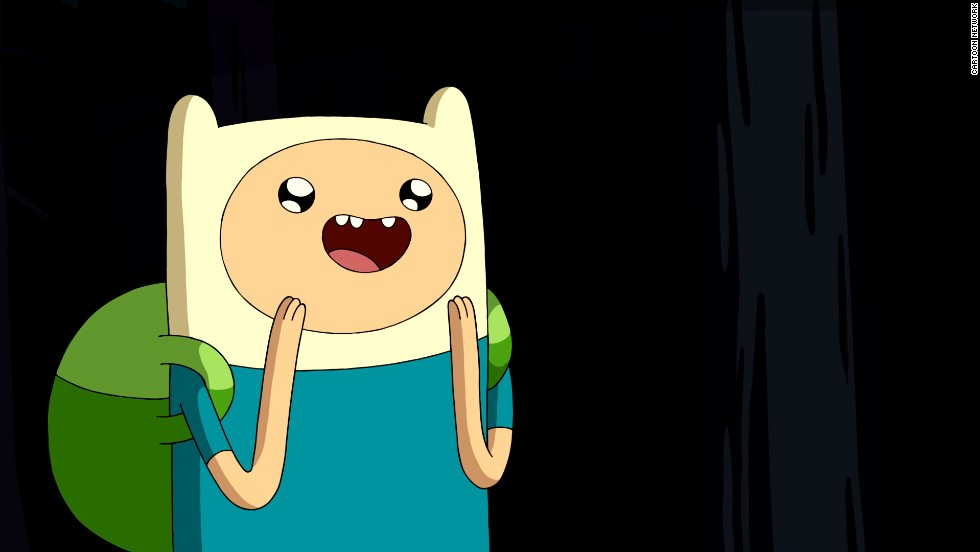 "Fun times with Season 2 of Cartoon Networks ""Adventure Time."" The animated series is about a boy and his magical talking dog."