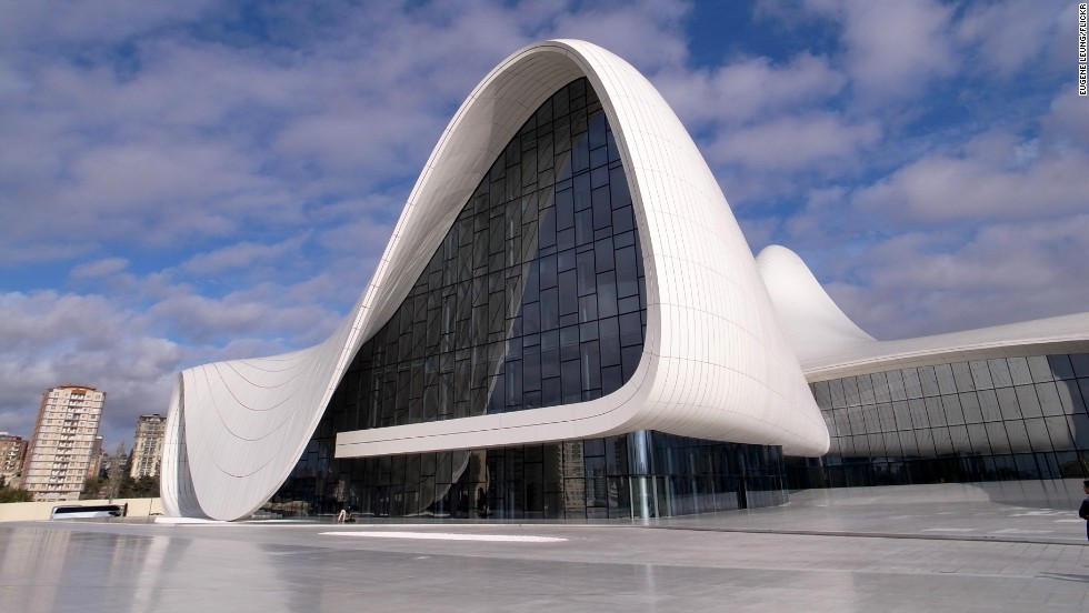 "Building data company Emporis has released a list of the world's most spectacular concert halls.<br />The Heydar Aliyev Center in Baku, Azerbaijan, has ""fluid forms that contrast to the rigid, monumental architecture you normally find in Baku.""President Ilham Aliyev, who officially opened the building on May 10, 2012, named the building after his late father, Heydar Aliyev, who was also a president of Azerbaijan. <strong>Architect:</strong> Zaha Hadid Architects."