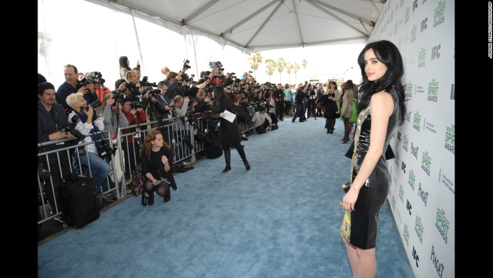"Krysten Ritter arrives for the<a href=""http://www.spiritawards.com/"" target=""_blank""> 2014 Film Independent Spirit Awards</a> on Saturday, March 1 in Santa Monica, California.  Click through to see other celebrities as they arrive."