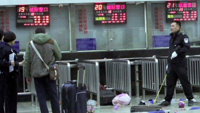 Mass stabbing at Chinese rail station