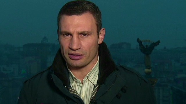 Ukraine opposition leader speaks out