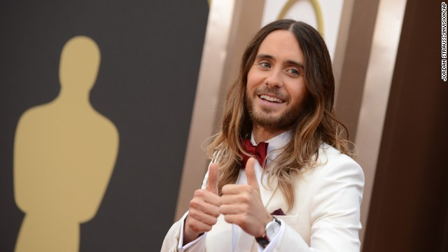 Jared Leto arrives at the Oscars on Sunday, March 2.
