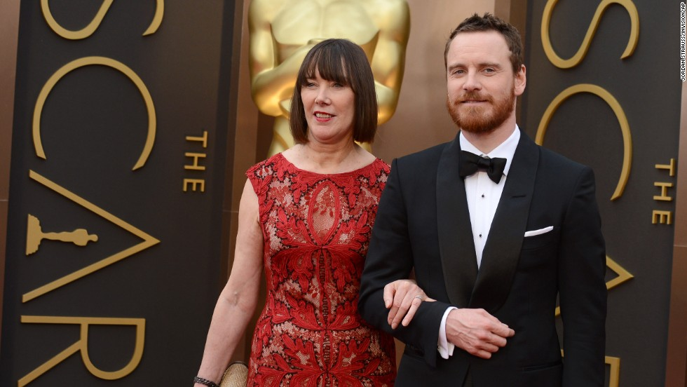 Michael Fassbender and his mother, Adele