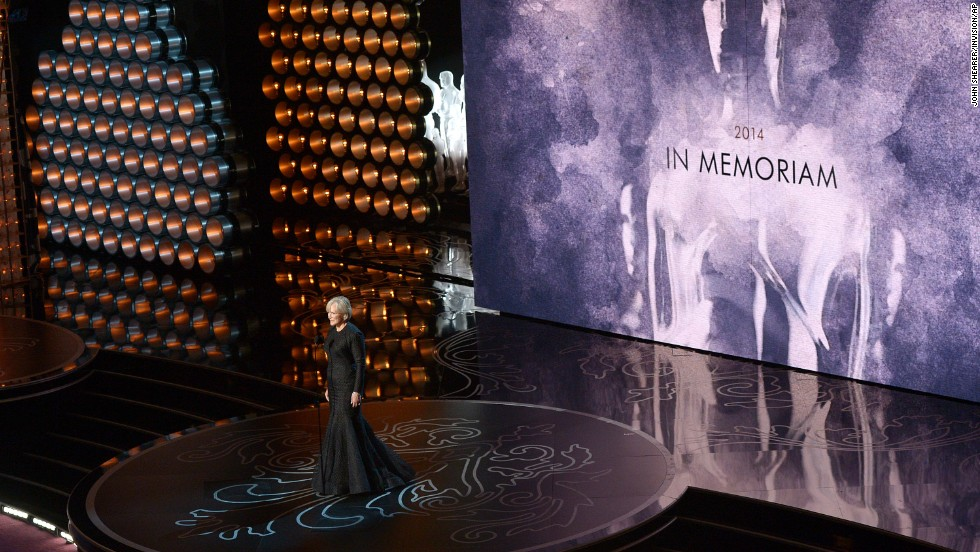 "Glenn Close presents the annual ""In Memoriam"" tribute."