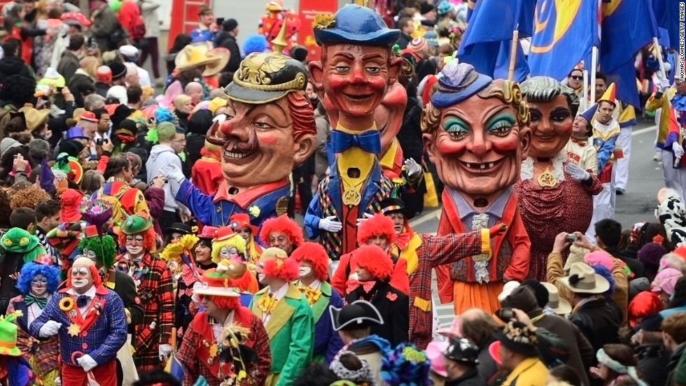 A carnival parade takes place Monday, March 3, in Mainz, Germany.