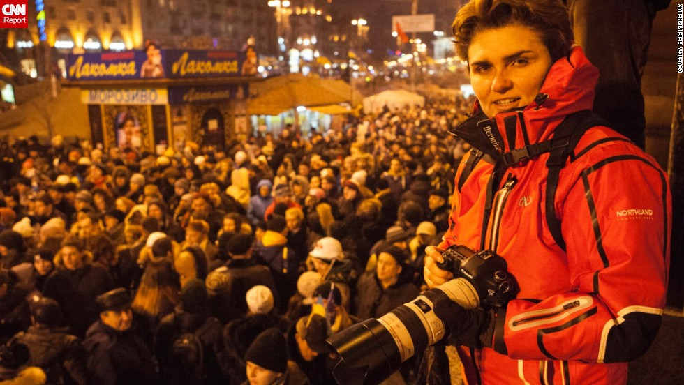 "<a href=""http://ireport.cnn.com/people/MaiaKiev"">Maia Mikhaluk</a> is a freelance photographer and one of the protesters who has been documenting the unrest in Ukraine since February 18. In these photos, she offers us a glimpse of the faces inside Maidan, the central square in Kiev where the majority of the demonstrations took place."