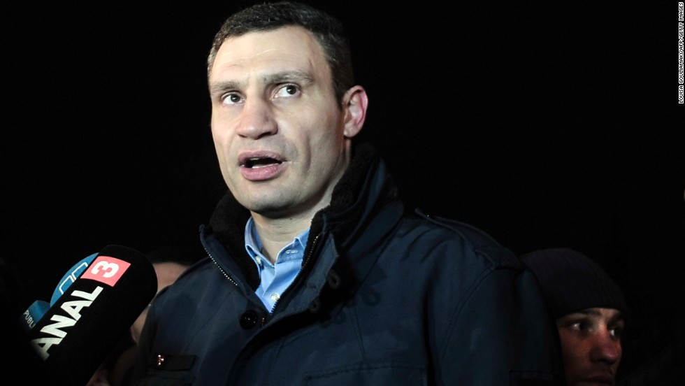 <strong>Ukrainian opposition leader Vitali Klitschko:</strong> The former heavyweight boxing champion -- and brother of current champion Wladimir -- is probably the most well-known figure representing the Ukrainian opposition to Yanukovych. He heads the Ukrainian Democratic Alliance for Reforms party, but the opposition bloc goes well beyond Klitschko and that party.