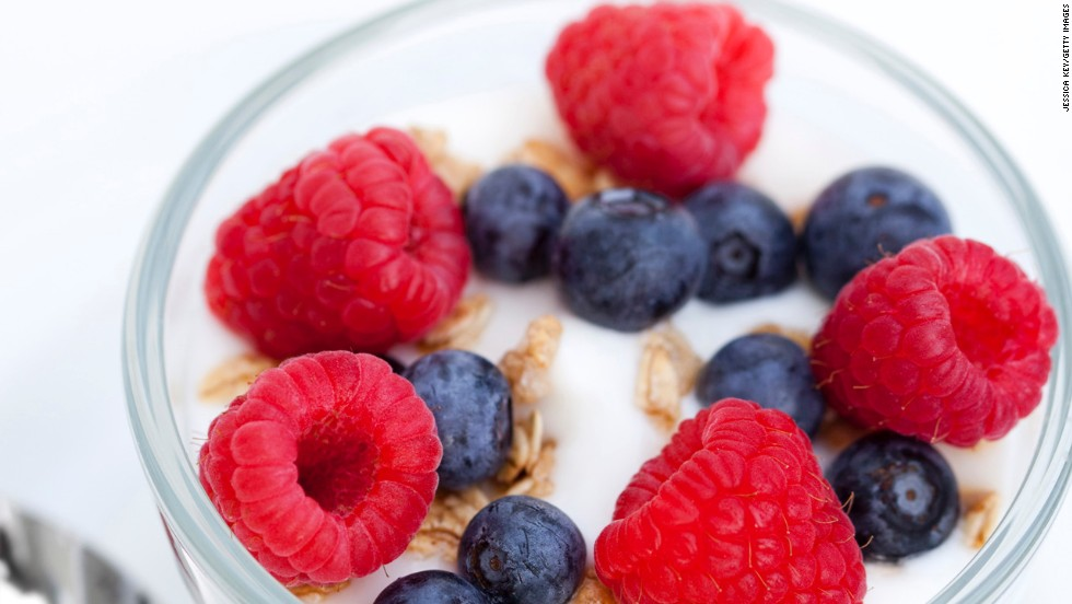 """<strong>Make carbs the topper instead of the base </strong><br /><br />Rethink the way you use grains and starches. Take a breakfast parfait, for instance: instead of starting with a granola base, fill your cup with yogurt and then sprinkle just a tiny amount of granola on top for the crunch you crave. Making a stir-fry? Load up your plate with veggies and a serving of lean protein, then add a quarter cup of brown rice. <br /><br /><a href=""""http://www.health.com/health/gallery/0,,20475957,00.html"""" target=""""_blank"""">Health.com: Best superfoods for weight loss </a><br />"""