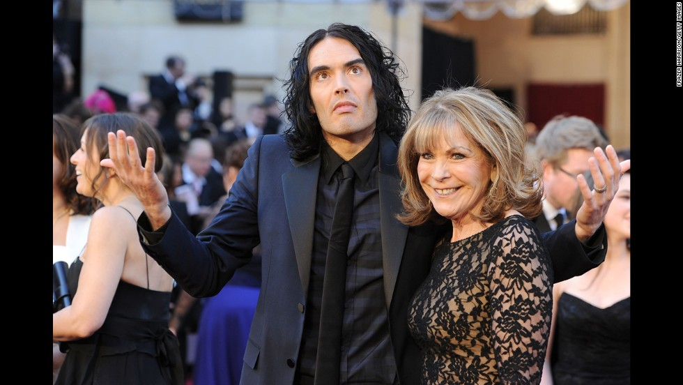 Russell Brand and mother Juliet Elizabeth Brand arrive at the 83rd Annual Academy Awards on February 27, 2011, in Hollywood, California.