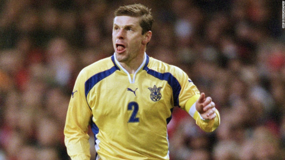 Luzhny's form at club level led to an international call-up for the USSR in 1989. He won eight caps, but after the Soviet Union's dissolution, he went on to play for Ukraine on 52 occasions, regularly captaining the nation.