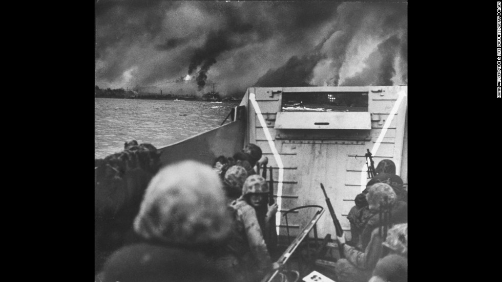 On June 25, 1950, North Korean Communist forces invaded South Korea. Two days later, President Truman ordered U.S. forces to assist the South Koreans. Here, U.S. Marines land at Inchon as the battle rages. Three years later, an armistice agreement was signed, with the border between North and South roughly the same as it had been in 1950. The willingness of China and North Korea to end the fighting was in part attributed to the death of Stalin in March. There has never been a peace treaty, so the Korean War, technically, has never ended.