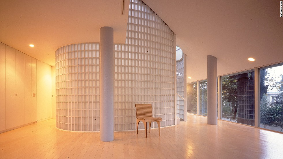 "<em>Shigeru Ban, Tokyo</em><br /><br />Shigeru's apartment within the building is so minimal that Molteni compares it to the home of a Zen monk. ""He lives with no objects at all except four chairs, a table and a simple bed,"" she says. ""It's just light and trees."""