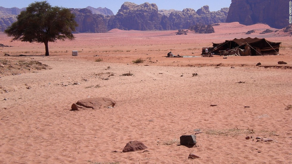 "Look familiar? The high-rise cliffs and blush pink sands of Wadi Rum (pictured) played themselves in ""Lawrence of Arabia."" At 89,342 square kilometers, Jordan may be a relatively small country, but its vistas are the stuff of silver screen epics."