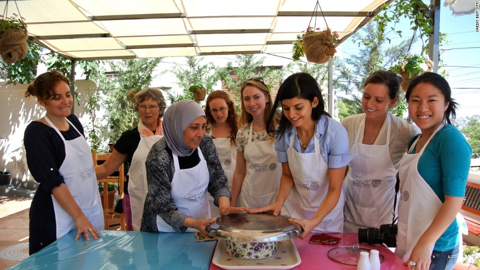Beit Sitti cooking classes in Jordan's capital city of Amman is a great place to learn Arabic cooking.