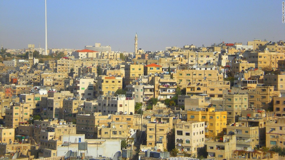 Jordanian cities such as Amman (pictured) don't suffer the car-horn cacophony prevalent in so many other Middle East countries.