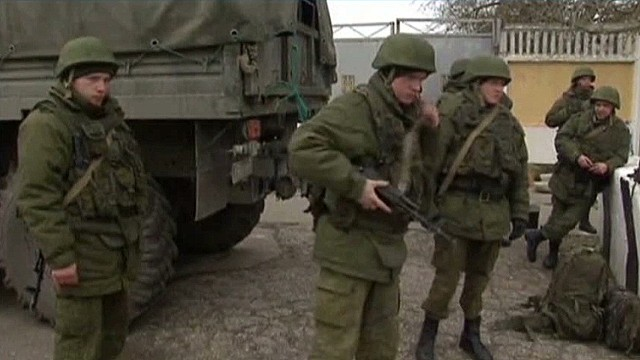Warning shots test calm in Crimea