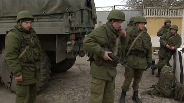 Warning shots test calm in Crimea
